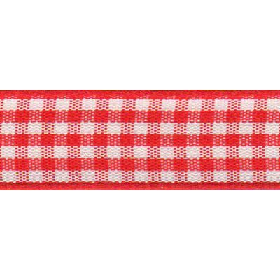 Berisfords - Gingham Ribbon - Red - 5 Widths