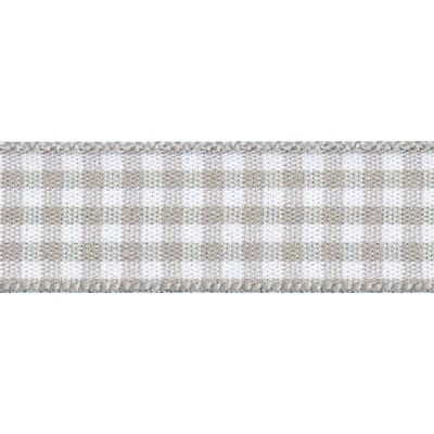 Berisfords - Gingham Ribbon - Steel - 5 Widths