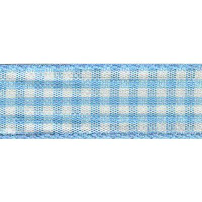 Berisfords - Gingham Ribbon - Sky - 5 Widths