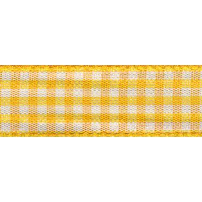 Berisfords - Gingham Ribbon - Gold - 5 Widths