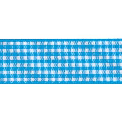 Berisfords - Gingham Ribbon - Peacock - 5 Widths
