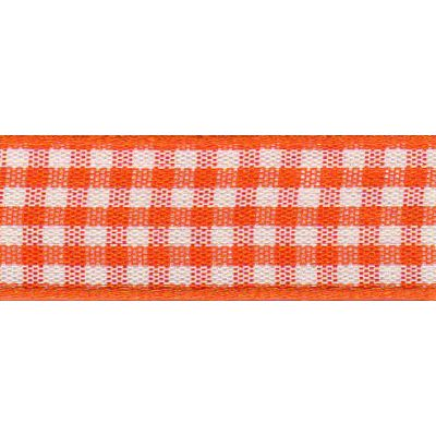 Berisfords - Gingham Ribbon - Orange - 5 Widths