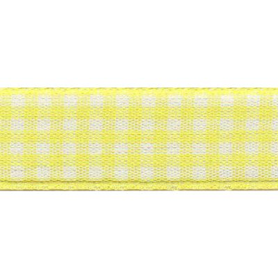 Berisfords - Gingham Ribbon - Lemon - 5 Widths