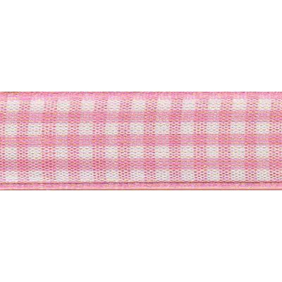 Berisfords - Gingham Ribbon - Rose - 5 Widths