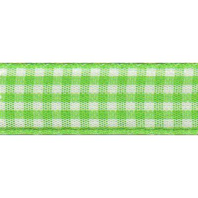 Berisfords - Gingham Ribbon - Meadow - 5 Widths