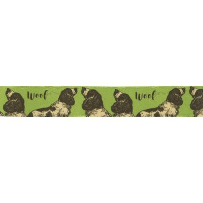 Sheep On Apricot Ribbon 25mm Wide Per Metre Berisfords