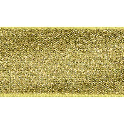 Berisfords Metallic Ribbon - Lame - 7mm Wide - Gold