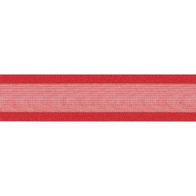 Berisfords Essentials Ribbon - Sheer Elegance - 25mm Wide - Red