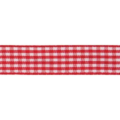20mm Red Gingham Ribbon 4m Reel