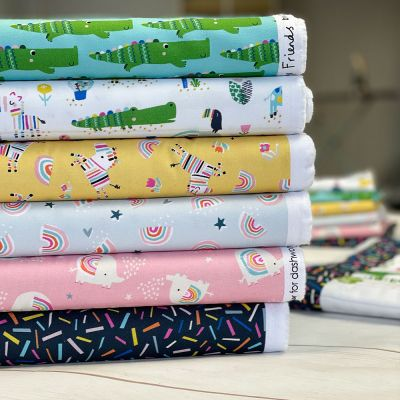 Dashwood Studio - Rainbow Friends - Fat Quarter Bundle - 6 Fabrics