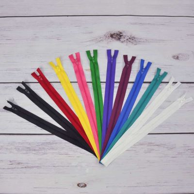 "Rainbow Zip Bundle - 10"" / 30cm Dress Zips x 12 Zips"