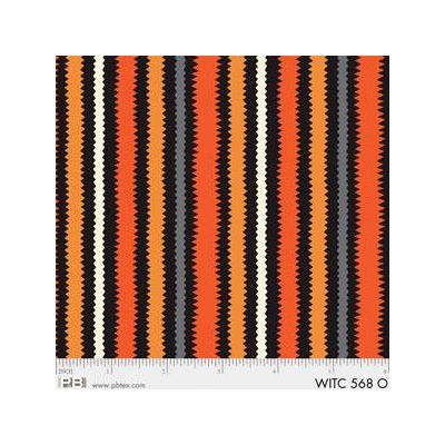 R & B Textiles - The Witchery - Stripe Orange