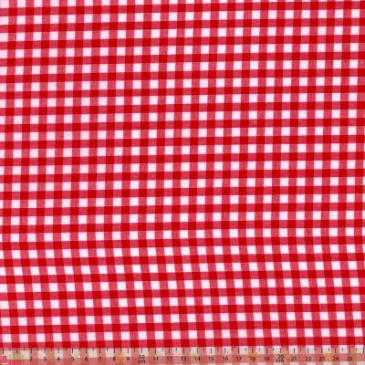 Polycotton - Gingham Red
