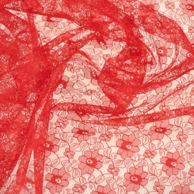 Red Polyester Lace