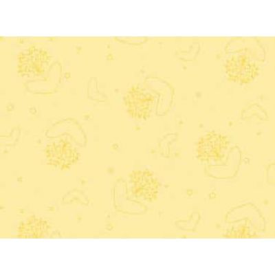 Remnant -  Red Rooster - Basically Hugs - Heart Flowers Yellow - 38 x 110cm