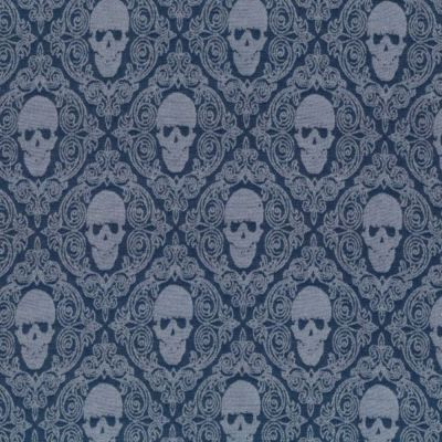 Stretch Denim - Regal Skulls
