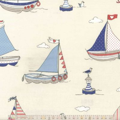 Regatta - Blue - Curtain Fabric