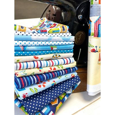 Makower - Beside The Sea - Fat Quarter Bundle - 15 Fabrics