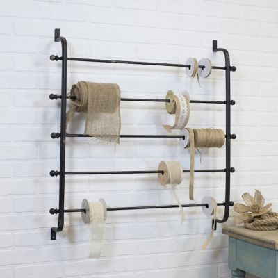 Remnant -Iron Wall Mounted Ribbon Rack - Small - 50cm x 50cm - Ex Display