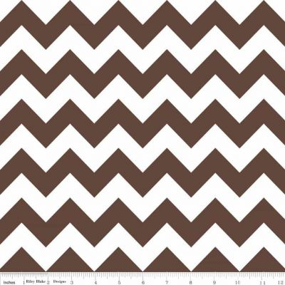 Riley Blake - Chevrons Medium Brown