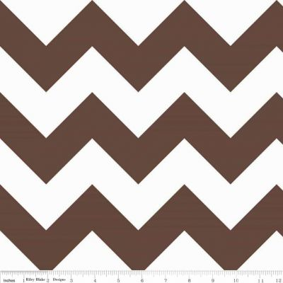 Riley Blake - Chevrons Large Brown