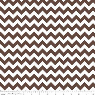 Riley Blake - Chevrons Small Brown