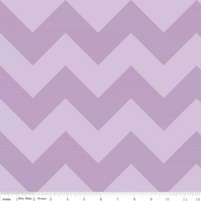 Riley Blake - Tone On Tone Large Chevrons Lavendar
