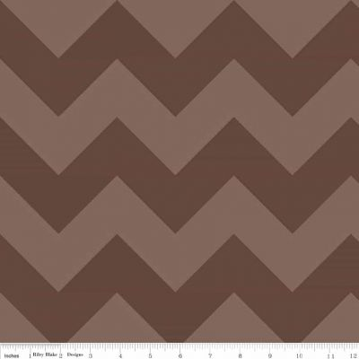 Riley Blake - Tone On Tone Large Chevrons Brown