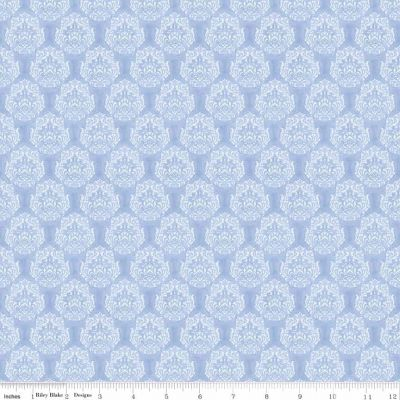 Riley Blake Penny Rose Juliette Scroll Light Blue Cut Length