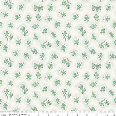 Riley Blake Penny Rose Lily Floral Mint Cut Length