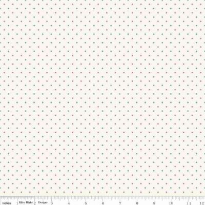 Riley Blake Penny Rose Lily Dot Cream Cut Length