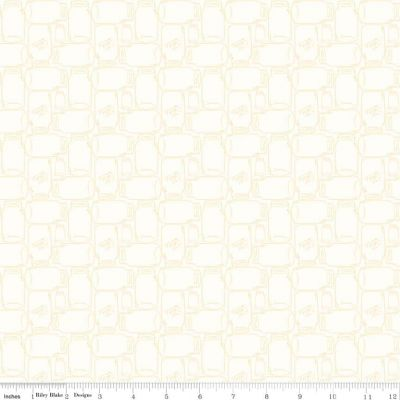 Riley Blake Bee Backgrounds Cannin Jar Yellow Cut Length