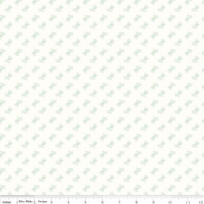 Riley Blake Bee Backgrounds Bicycle Mint Cut Length
