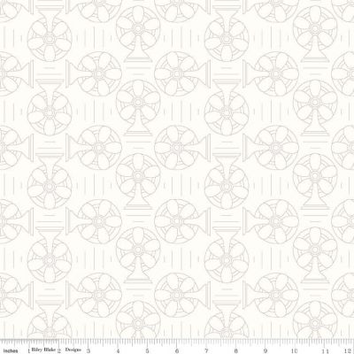 Riley Blake Bee Backgrounds Cool Gray Cut Length