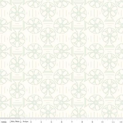Riley Blake Bee Backgrounds Cool Green Cut Length