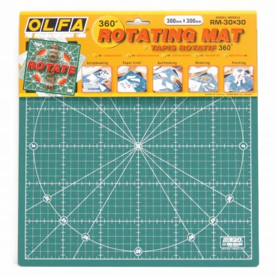"Olfa Self Healing Rotating Cutting Mat 12"" x 12"""