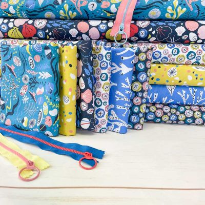 Dashwood Studio - Rock Pool - Fat Quarter Bundle - 6 Fabrics