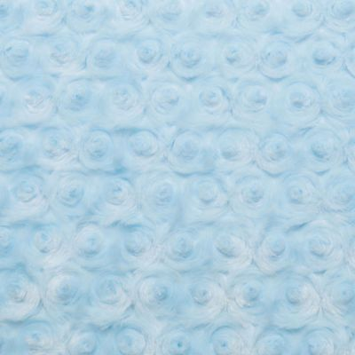 Shannon Luxe Cuddle Rose Plush Fabric- Baby Blue