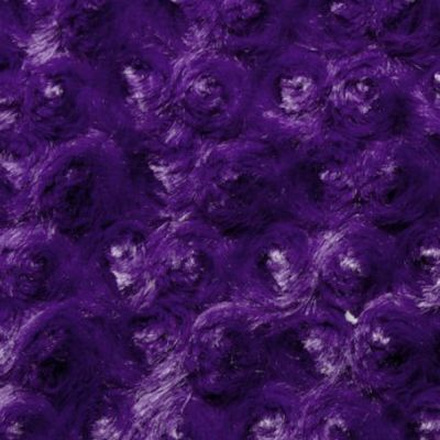 Remnant - Shannon Luxe Cuddle Rose Plush Fabric - Purple - 50cm x 50cm