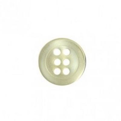 Round 6 Hole Shirt Button - Ivory 9mm / 14L