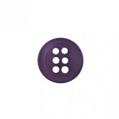 Round 6 Hole Shirt Button - Purple 11mm / 18L