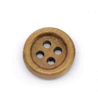 Round Wooden Buttons 15mm - Pack of 10