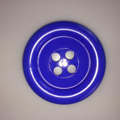 Royal Blue Extra Large Clown Buttons Size 100 - 63mm