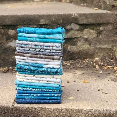 Andover - Royal Blue - Fat Quarter Bundle - 22 Fabrics