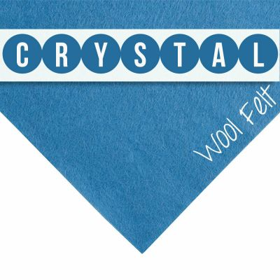 30% Wool Felt Square - Crystal - 12 Inch Square