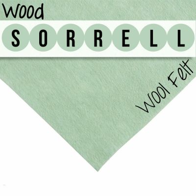 30% Wool Felt Square - Wood Sorrell - 12 Inch Square