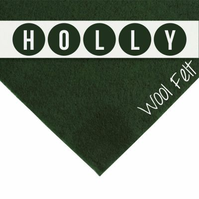 30% Wool Felt Square - Holly - 12 Inch Square