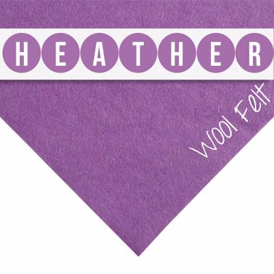 30% Wool Felt Square - Heather - 12 Inch Square