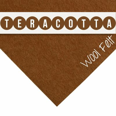 30% Wool Felt Square - Terracotta - 12 Inch Square