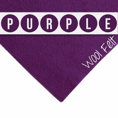 30% Wool Felt Square - Purple - 12 Inch Square